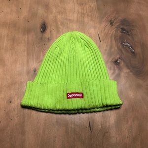Lime Green Supreme beanie